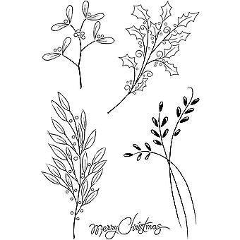 Woodware Clear Stamps - Greenery Natal