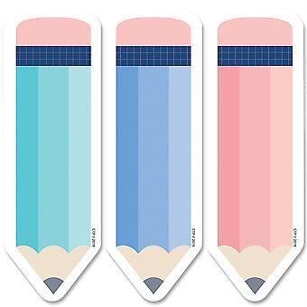 "Lápices de calma y fresco 6"" recortes de diseñador, 36/Pack"
