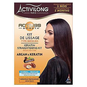 Activilong Keratin Straightening Kit - Brazilian type - REGULAR 3x1.69 fl.oz + 1x 0.34 fl.oz