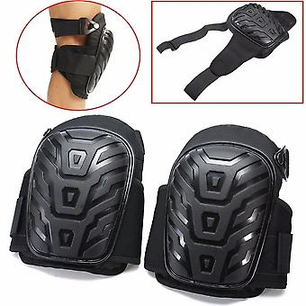 Adjust Motorcycle Leg Cover Knee Pads With Straps Safe Eva Gel Cushion Pvc
