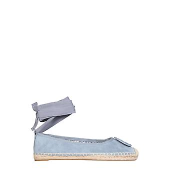 Tory Burch 78791972 Women's Light Blue Leather Espadrilles