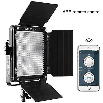 Gvm 560 led video light panel with app control function photography lighting cri97+ 3200k-5600k + bi