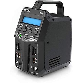 Skyrc t200 double balance charger ac/dc 12a 100w xt60 plug for lipo li-ion life batteries nicd nimh pb lihv