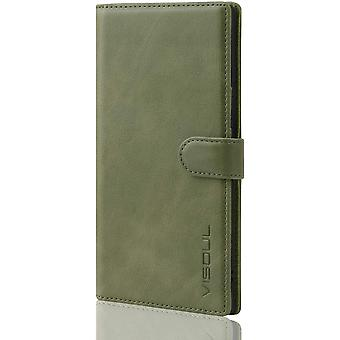 VISOUL Samsung Note 20 Ultra case, Real Leather Shockproof Book Flip Galaxy Note 20 Ultra Cover