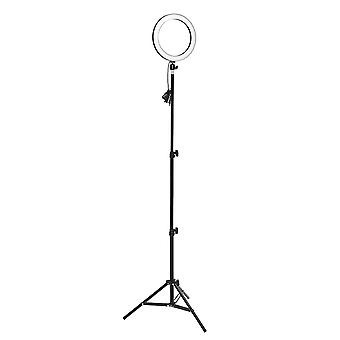Led ringlamp dimmable& light stand kit telefoon foto selfie video make-up live telefoon houder