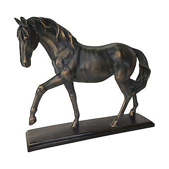 "Polyresin 14"" Horse Sculpture, Black"
