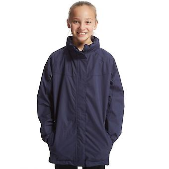 New Peter Storm Girl's Hardwearing Waterproof Jacket Navy
