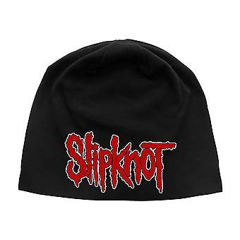 Slipknot Beanie Hat Band Logo new Official Black Unisex Jersey Print