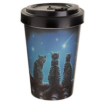 Desiderio composito di bambù su una tazza da viaggio per gatti Lisa Parker
