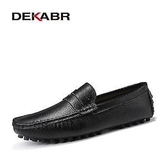 Dekabr Large Size 50 Men Loafers Soft Moccasins High Quality Spring Autumn