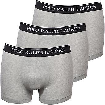 Polo Ralph Lauren 3-Pack Classic Boxer Trunks, Andover Heather Grey