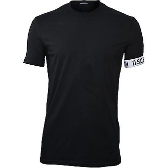 Camiseta DSquared2 ICON DSQ2 Crew-Neck, Preto/Branco