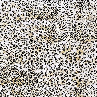 Tapis imprimé multicolore Leopard Dream en polyester, coton, L80xP200 cm