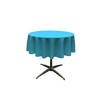 La Leinen Polyester Poplin Tischdecke 58-Zoll rund, dunkel Türkis