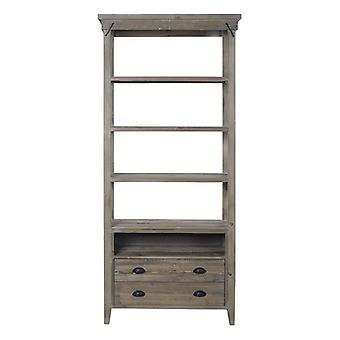 Planken Dekodonia Bookshop Metaal Gerecycled Hout (90 x 38 x 200 cm)