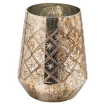 The Noel Collection Burnished Etched Candle Holder