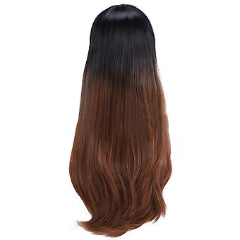 Blunt Bang Gradient Ramp Cap Synthetic Wig