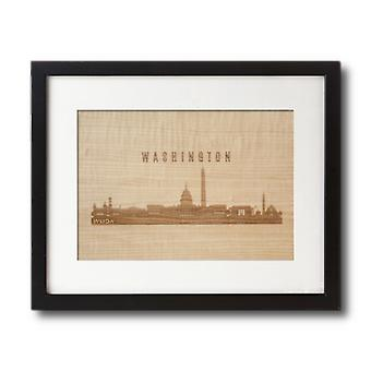 Laser Engraved Wooden Wall Art | Cityscape