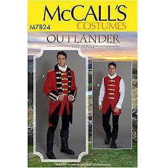 Mccalls Ompelu kuvio 7824 Miesten Outlander Puvut Koko 38-44