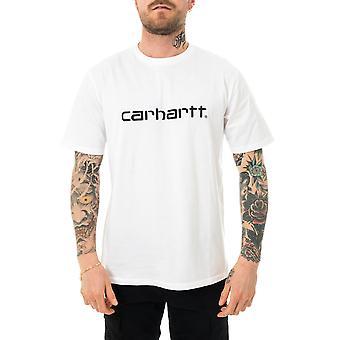 T-shirt homme carhartt wip s/s script t-shirt blanc/noir i029915.02