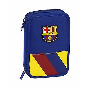 Kaksinkertainen lyijykynäkotelo F.C. Barcelonan sininen (34 kpl)