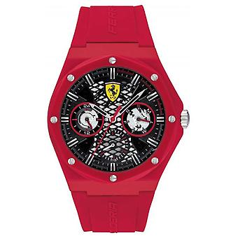 Scuderia Ferrari Aspire | Röd silikonrem | Svart urtavla 0830786 klocka
