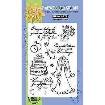 Hero Arts Warmest Wedding Wishes Clear Stamp