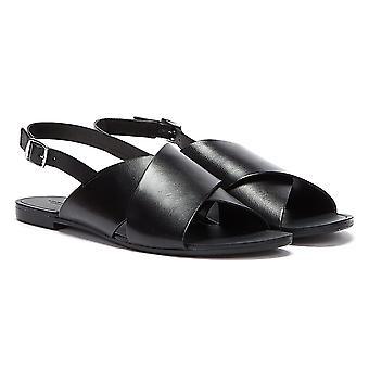 Vagabond Tia Cross Strap Womens Black Sandals