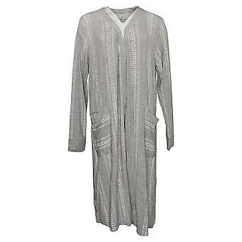 Cuddl Duds Women's Sweater Open Front Cardi W/ Pockets Grey A391552