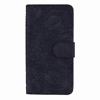 Klasyczny skórzany futerał folio do Samsung Galaxy A51 - Czarny