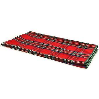 checkered MacBain 140 x 160 cm fabric red