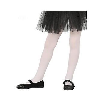 Witte ondoorzichtige panty's voor kinderen