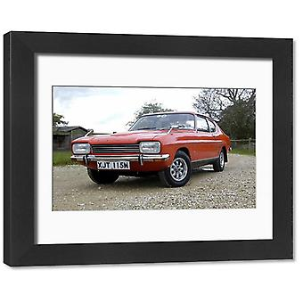 Ford Capri 1600 XL, 1974, Orange. Framed Photo. Ford Capri 1600 XL 1974 Orange.