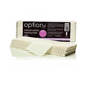Hive Of Beauty Waxing Natural Cotton Body Removal Strips 21.5cm x 7.5cm (100)