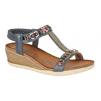 Cipriata Brizia damer Juvelerade Wedge Sandaler Blå