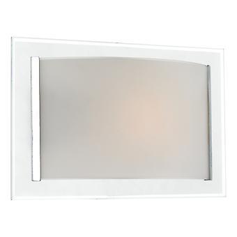 DAR INVERSE Flush Deckenleuchte Glas Wandleuchte poliert Chrom Trim, 1x E14