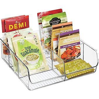 FengChun Aufbewahrungsbox & stapelbarer Kasten mit sechs Fchern zur Lebensmittelaufbewahrung &