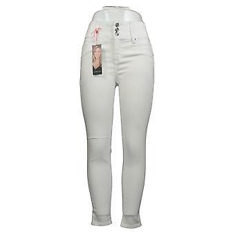 H door Halston Women's Pants Knit Boot-Cut w/ Pintuck Detail Wit A350237