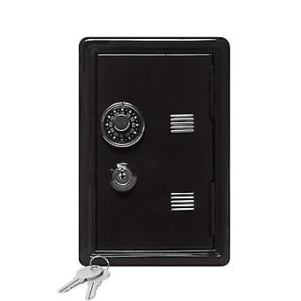 Household Insurance Box Mini Metal Safe Creative Piggy Bank Key