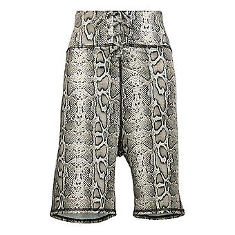 WVVY by Fitty Britttty Women's Shorts Lg Power Lace-Up Bike Beige Prnt 698673