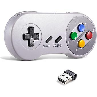 FengChun 2.4G Wireless Controller Chargeable Classic SNES USB Gamepad Joystick mit