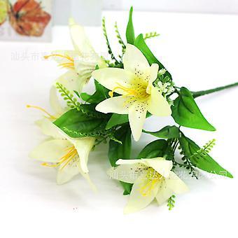 5pcs flor artificial lirio flor seca flor falsa