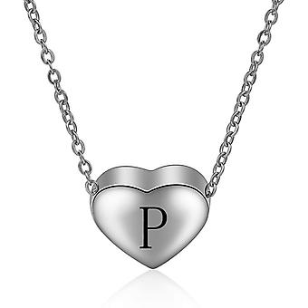 Sterling Silver Initial Necklace Letter P