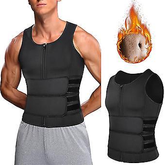 L miehet shapewear vyötärö kouluttaja hiki liivi sauna puku treeni paita laihtuminen kehon muotoilija laihtuminen cai1520