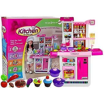 Cucina per bambini con touchscreen 74 x 35 x 98 cm - Rosa