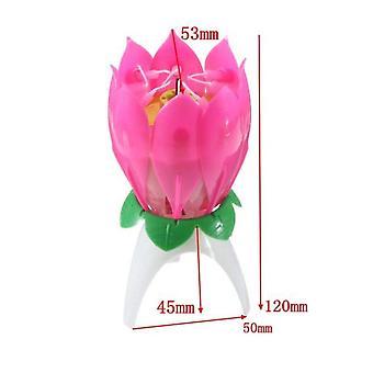 Alles Gute zum Geburtstag Kuchen Licht Lotus Blume Musik Kerzen