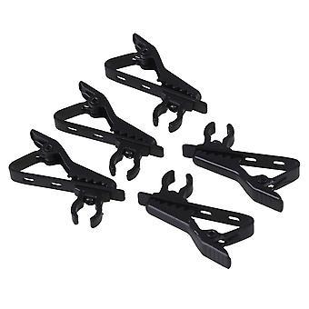 ل5x أسود معدني EY-J02A 6mm ميكروفون ربطة عنق كليب لنظام الميكروفون اللاسلكي WS2929
