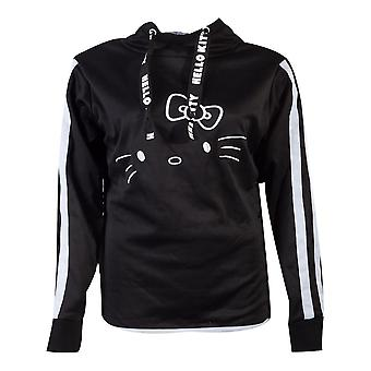 Hello Kitty - Hello Kitty Side Buttons Women's X-Large Hoodie - Noir