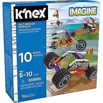 K'NEX Beginner Fun Fast Vehicles 10 Model Building Set