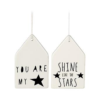 Porcelain Hanging Word Plaques by Heaven Sends